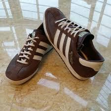 adidas beckenbauer allround trainers brown white leather men s fashion on carou