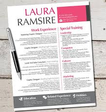 Modern Marketing Resume The Laura Jane Resume Modern Custom Design Template Business