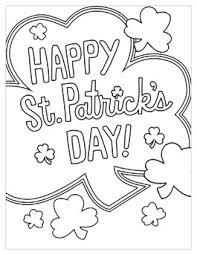St Patricks Day Coloring St Patricks Day Coloring Pages Hallmark Ideas Inspiration