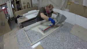 Diy Concrete Countertop Spraying A Mold Youtube