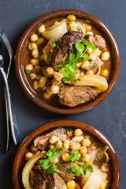 Lamb Stew Recipe Spicy Lamb Stew With Chickpeas Recipe Simplyrecipescom