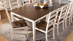 extendable dining room table by signature design by ashley. whitesburg dining room collection from signature design by ashly - youtube extendable table ashley i