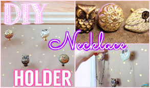 Diy Necklace Holder Diy Tumblr Pinterest Inspired Jewelry Holder Youtube