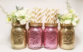 Mason Jar Decorations For Bridal Shower Bridal Shower Decorations Wedding Centerpiece Baby Shower 16