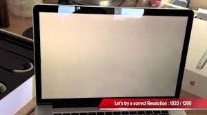 macbookpro retina black screen display