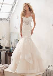 Modern Mori Lee Wedding Gown Dreamy Ball Style 2877 Morilee
