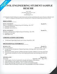 Engineering Student Resume New Civil Engineering Student Resume Example Engineer Template Samples