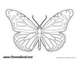 Monarch Butterfly Outline Tims Printables