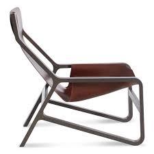 toro sling lounge chair  leather sling chair  blu dot