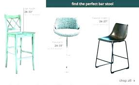 Bar Stool Size Chart Bar Stool Sizes