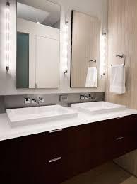 bathroom vanity side lights. trendy beige tile bathroom photo in dc metro with a vessel sink, flat-panel vanity side lights houzz