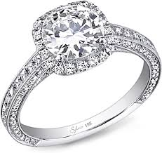 sylvie pave halo diamond engagement ring sy652