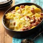 cheesy scalloped potatoes and ham