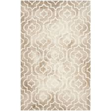 safavieh dip dye 10 x 14 hand tufted wool rug in beige and ivory ddy538g 10