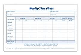 Timesheet Or Timesheet Amazon Com Adams Time Sheet 9 X 5 5 Inch Weekly Format 2 Part