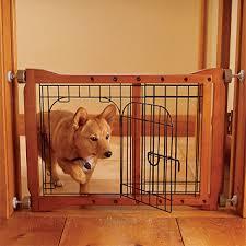 wood door frame dog gate