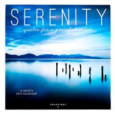 2019 Serenity Quotes Wall Calendar