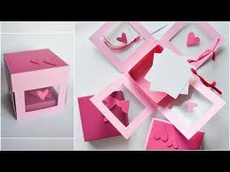 How to Make - Transparent Exploding Box Hearts - Step by Step DIY ...