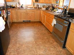 Floor Tile Kitchen Kitchen Amazing Kitchen Flooring Cork Options With Yellow Shade