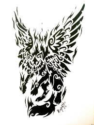 огненный крылатый волк