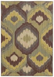 lime green rag rug