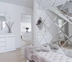 how to use decorative mirror tiles in