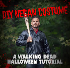 diy negan costume a walking dead halloween tutorial