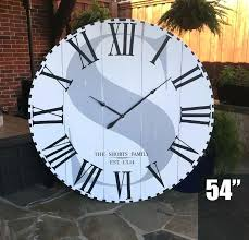 extra large wall clock image 0 extra large outdoor wall clocks uk