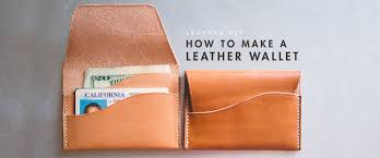 diy leather wallet wide