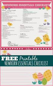 Baby Supplies Checklist One Savvy Mom Nyc Area Mom Blog Newborn Essentials