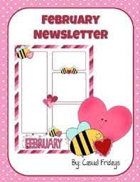 february newsletter template newsletter template february by casual fridays tpt
