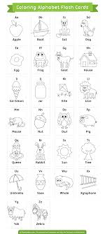 The vocabulary for these alphabet flashcards matches the phonic sound of each letter, with the exception of 'xx' which is. Free Printable Coloring Alphabet Flash Cards Download Them In Pdf Format At Http Flashcardfox Com Do Abc Flashcards Printable Alphabet Flashcards Flashcards