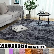 Large Size Tie-dye <b>Super Soft</b> Fluffy Floor Rug <b>European Fashion</b> ...