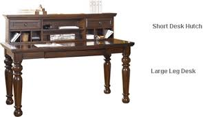 home office desk and hutch. Porter Home Office Large Leg Desk With Short Hutch And