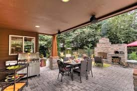 outdoor fireplace with pizza oven rustic patio smoker