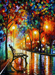 loneliness of autumn original oil painting on canvas by leonid afremov size 30