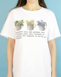 Decorate Your Own Clothes Your Own Gardens T Shirt Floral Inspiration Pinterest T Shirt