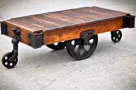 Diy Industrial Coffee Table Railroad Cart Coffee Tables Living Bed Shower Vintage