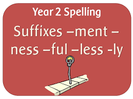 SPaG Year 2 Spelling: The suffixes –ment, –ness, –ful , –less and ...