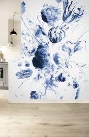 Pin Van M K Op Living Fotobehang Blauw Behangpapier En Bloem