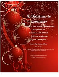 Christmas Template Free Party Invitation Christmas Party Invitation Wording Free Template 12