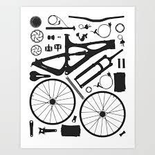 Bike Parts Vector Illustration Bike Ibis Cycles Bikes