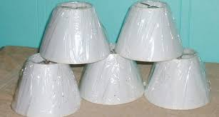 lamp chandelier shades paper white brown speckled fits bulb brass
