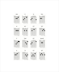 Blank Chord Chart Blank Guitar Chord Chart Template 5 Free Pdf Documents