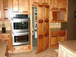 Microwave Drawer Oven In Island Awesome Kitchen  With Hidden Trash Bin Pantry Also   I56