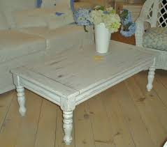 ... Coffee Table, Surprising White Rectangle Wood Shabby Chic Coffee Table  Design To Complete Living Room ...