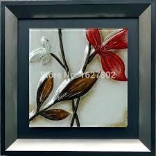 glass wall hangings art beautiful handmade framed leave decor fused