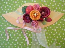 Paper Flower Hats Mothers Day Hat Card Dianne Faw