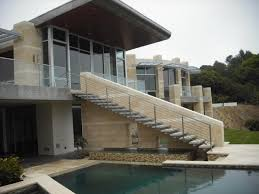 Stainless And Glass Exterior Contemporary Exterior San Diego Modern Outdoor  Stair Railing