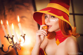 lina in hat dota 2 cosplay by luckystrikecosplay on deviantart